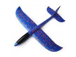Детский самолет-планер 35х30 см Синий (8876-1)