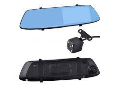Автомобильный видеорегистратор-зеркало AKLINE L-1001C+ выносная камера 5 1080P Full HD Черный (KD-5923S980)