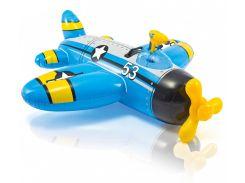 Надувной плот Intex 57537 Самолет 132х130 см Синий