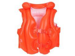 Детский надувной жилет для плаванья Intex Оранжевый (58671R)