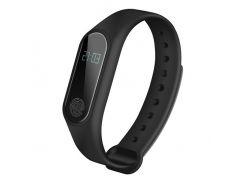 Фитнес-браслет Health M2 USB Bluetooth с шагомером и пульсометром влагостойкий 38x14x10 мм Черный (KD-5944S126)