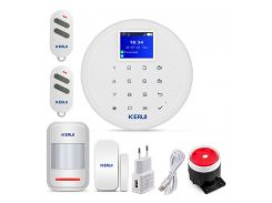 Комплект GSM сигнализации Kerui alarm W17 Start с Wi-Fi Белый (w17 start)