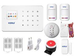 Комплект сигнализации Kerui G18 Extra для 1-комнатной квартиры Белый (g18 pro 1)
