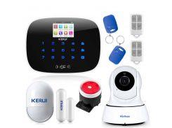 Комплект сигнализации Kerui G19 с видео Wi-Fi IP-камерой Белый (g19 ip cam)