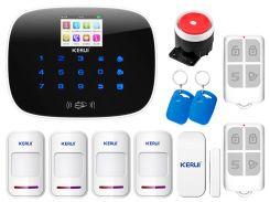 Комплект сигнализации Kerui G19 для 3-комнатной квартиры Белый (g19 - 3)