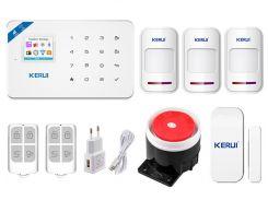 Комплект сигнализации Kerui Wi-Fi W18 для 2-комнатной квартиры Белый (w18 - 2)