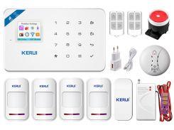 Комплект сигнализации Kerui Wi-Fi W18 Pro для 3-комнатной квартиры Белый (w18 pro 3)
