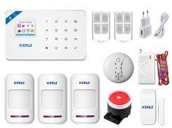 Комплект сигнализации Kerui Wi-Fi W18 Pro для 2-комнатной квартиры Белый (w18 pro 2)