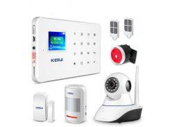 Комплект сигнализации Kerui alarm G18 с Wi-Fi IP камерой Белый (g18 ipcam)