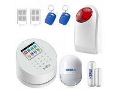 Комплект сигнализации Kerui alarm W2 с Wi-Fi и сиреной Белый (W2 siren)