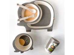 Детская бамбуковая посуда Слоненок 5 предметов (200676)
