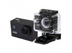 Видеокамера Action Camera D600 с боксом и креплениями Черный (2000)
