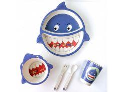 Детская бамбуковая посуда Акула 5 предметов (200677)