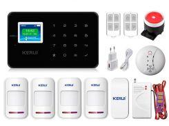 Комплект сигнализации Kerui G18 Pro для 3-комнатной квартиры Черная (g18 pro 3 black)