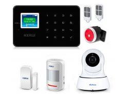 Комплект сигнализации Kerui G18 с видео Wi-Fi IP камерой Черная (g18 ip cam black)