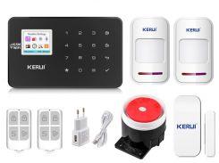 Комплект сигнализации Kerui Wi-Fi W18 для 1-комнатной квартиры Черная (W18 1 black)