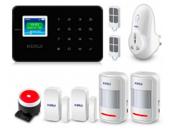 Комплект сигнализации Kerui alarm G18 plus с умной радиорозеткой Черная (g18 plus rozetka black)
