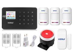 Комплект сигнализации Kerui Wi-Fi W18 для 2-комнатной квартиры Черная (w18 2 black)