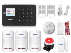 Комплект сигнализации Kerui Wi-Fi W18 Pro для 2-комнатной квартиры Черная (w18 pro 2 black)