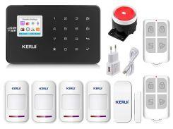 Комплект сигнализации Kerui Wi-Fi W18 для 3-комнатной квартиры Черная (w18 3 black)