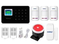 Комплект сигнализации Kerui G18 для 2-комнатной квартиры Черная (g18 2 black)