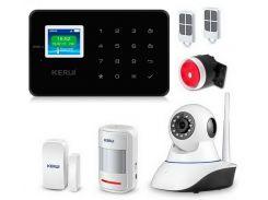 Комплект сигнализации Kerui alarm G18 с Wi-Fi IP камерой Черная (g18 ip cam blackk)