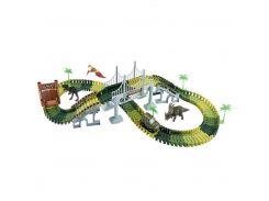 Автотрек Jacotoys Парк Юрского периода с динозаврами 144 детали (JT124U)
