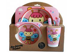 Набор детской посуды из бамбукового волокна Elite Lux 5 приборов Фея Пчелка (200728)
