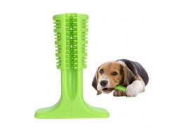 Зубная силиконовая щётка для собак Petolls L 12.9x18.2x5.9 см Зелёная (SD32)