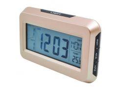Часы настольные электронные LIGHT 2616 Бежевые (KD-4846S86)