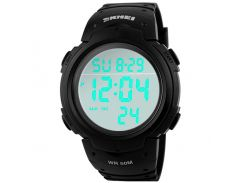 Часы наручные Skmei 1068 Черные (KD-06016S162)