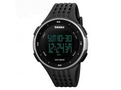 Часы наручные Skmei 1219 Серебристо-черные (KD-6014S162)