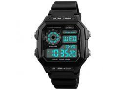 Часы наручные Skmei 1299 Черные (KD-06027S162)