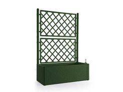 Вазон STEFANPLAST DELUXE прямоугольный с декором 100 х 43 х 142 см Зеленый (75768)