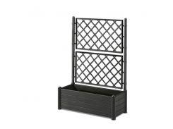 Вазон STEFANPLAST DELUXE прямоугольный с декором 100 х 43 х 142 см Черный (75762)