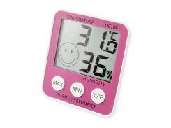 Термометр с гигрометром HTC DC-108 Pink (KD-3581S31)