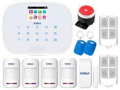 Комплект сигнализации Kerui G19 для 3-комнатной квартиры Белый (g19 3 white)