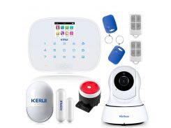 Комплект сигнализации Kerui G19 с видео Wi-Fi IP-камерой Белый (g19 ip cam white)