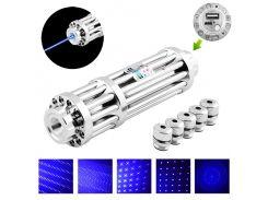 Фонарь лазер Point YX-B017 Синий 5 насадок PowerBAnk (KD-5507S891)