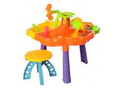Столик-песочница Kinderway Цветочек 9808 со стульчиком (9808R)
