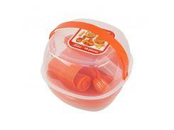 Набор пластиковой посуды Supretto для пикника 48 шт Оранжевый (5092-001)
