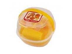 Набор пластиковой посуды Supretto для пикника 48 шт Желтый (5092-002)