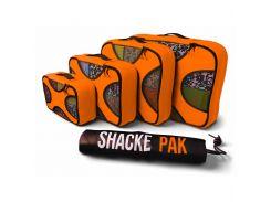Дорожный органайзер для путешествий Shacke Paсk 5 шт Оранжевый (SP008)