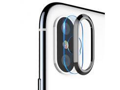 Защитная накладка Grand вокруг камеры и защитное стекло для iPhone X/10/XS Black (6061)