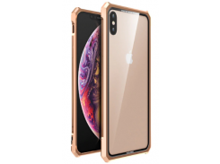 Чехол накладка Luphie для iPhone X/Xs Gold