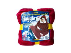 Плед-толстовка Huggle с капюшоном One Size Бордовый (2412)