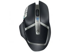 мышь logitech g602 wireless gaming mouse black-silver (4974342)