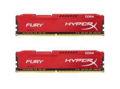 Оперативная память Kingston DDR4 2400MHz 16GB 2x8GB HyperX Fury Red HX424C15FR2K2/16 (4883745)