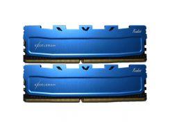 Оперативная память для компьютера DDR4 8GB 2x4GB 2400 MHz Blue Kudos eXceleram EKBLUE4082416AD (6332982)