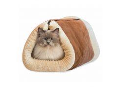 Коврик туннель для кошек 2 In 1 Kitty Shock Бежево-коричневый (ob0040/BIT0011)